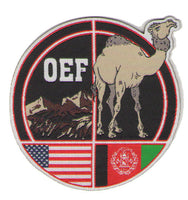 Military Afghanistan Patch OEF Operation Enduring Freedom Camel US Flag USA