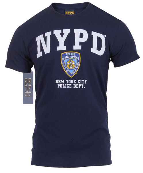 NYPD T-shirt New York Police Dept Department Shirt Navy Blue Rothco 6638