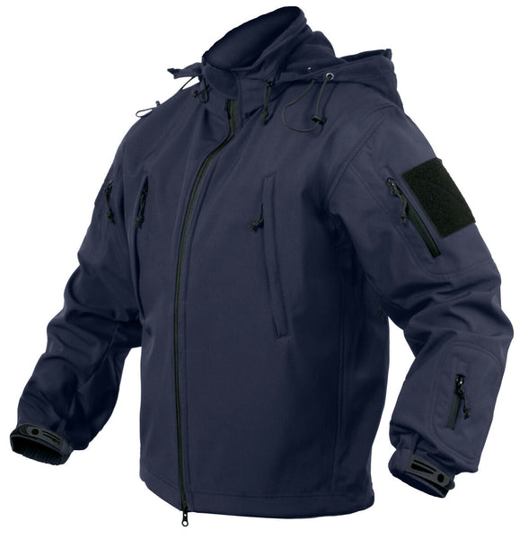 Mens Tactical Soft Shell Jacket Dark Blue CCW Concealed Carry Coat Rothco 56385