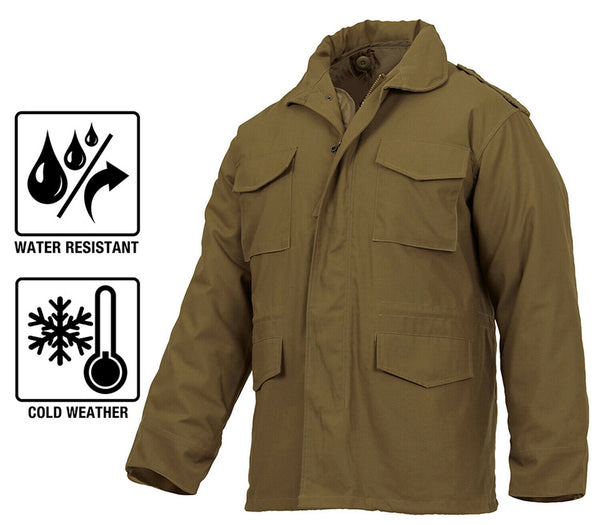 M-65 Field Jacket Coyote Brown Coat With Liner Winter Jacket Military Style 3896