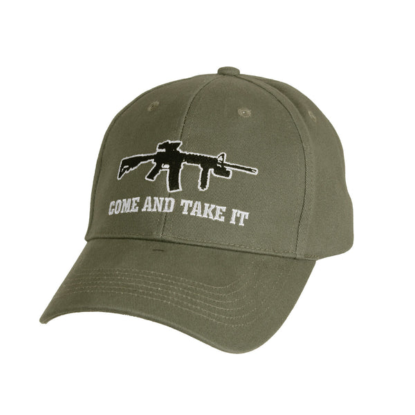 come and take it gun logo ballcap hat baseball style olive drab rothco 9809