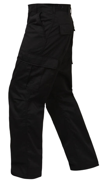 pants bdu style relaxed fit cargo pants black zipper fly rothco 2971