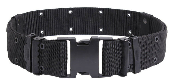 Tactical Pistol Belt Marine Corps Style Quick Release Black Rothco 9078