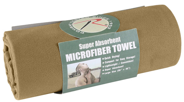 "Microfiber body towel Super Absorbant Compact Size 30"" X 50""  Rothco 99"