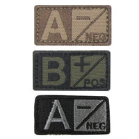 TACTICAL BLOOD TYPE PATCH MILITARY BLOODTYPE PATCH HOOK BACKING CONDOR 229