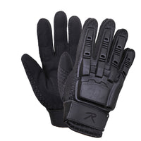 gloves black hard back armored tactical glove durable rothco 3531