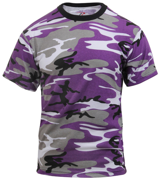 Ultra Violet Kids Camo Boys T-shirt Purple Camouflage Youth Tee Shirt 6743