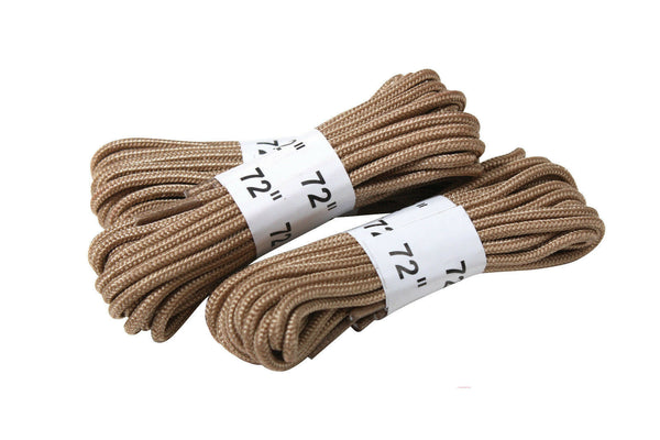 "Desert Tan Military 72"" Boot Laces 3 Pack rothco 61914"
