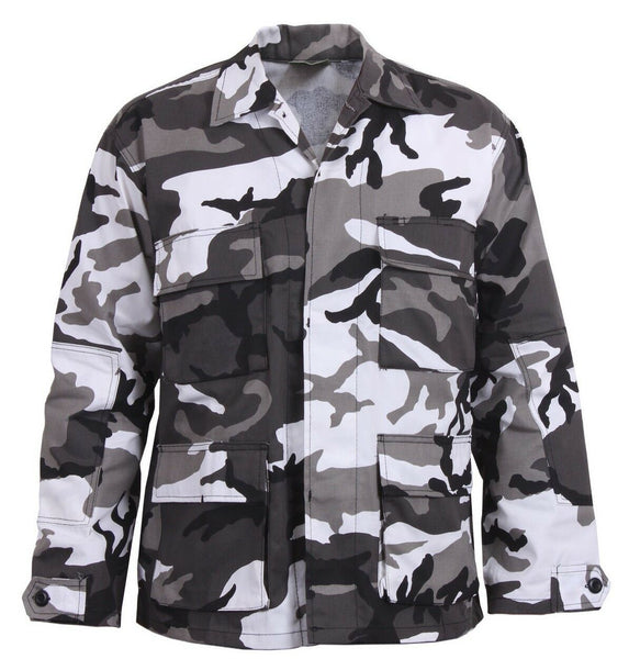 Military Style BDU Shirt Urban City Camo Camouflage Uniform Coat Rothco 8881