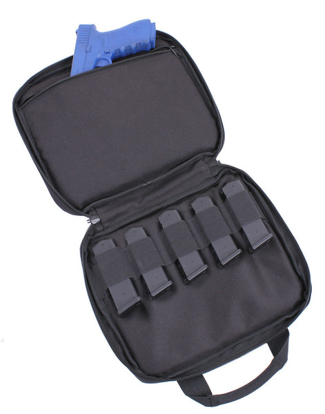 double pistol case carry bag lockable zippers rothco 3907