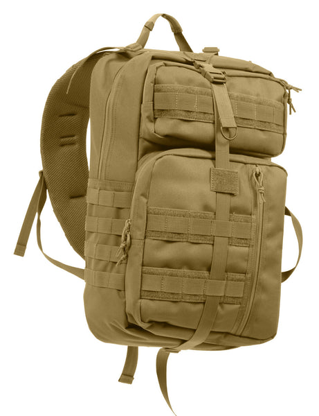Tactical Sling Pack CCW Concealed Carry Backpack Coyote Brown Rothco 25120