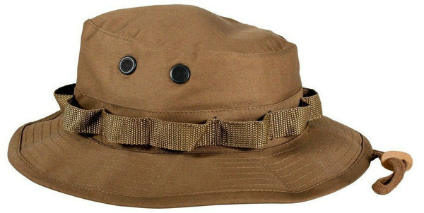 Coyote Brown Booniehat Military Style Sun Jungle Boonie Hat Rothco 5750