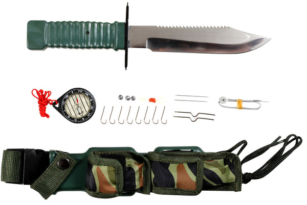 survival knife compass fishing hooks special forces military style rothco 3237