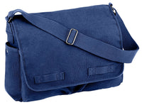 vintage style messenger bag canvas blue shoulder strap rothco 8159