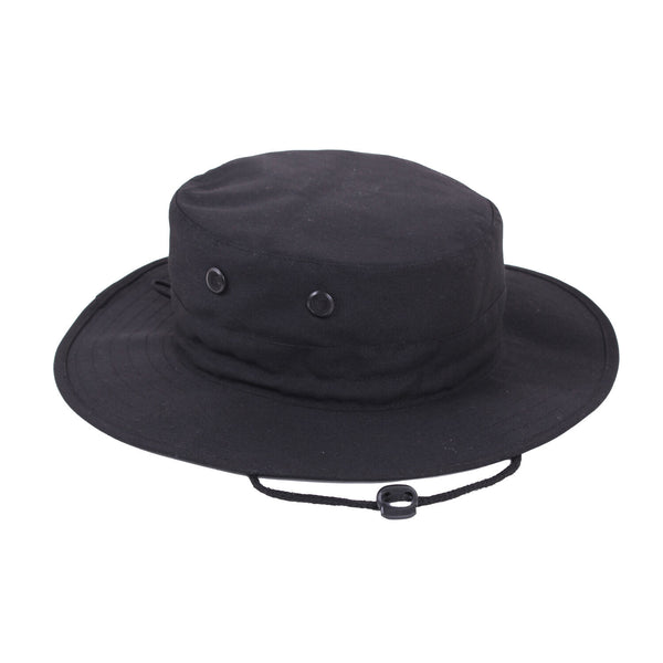 military style booniehat boonie jungle sun hat adjustable black rothco 52556