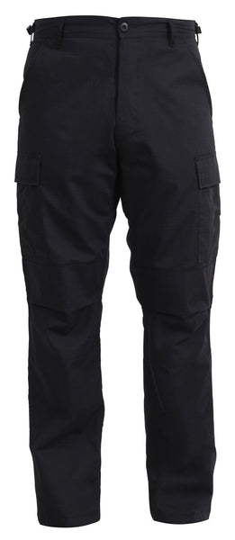military bdu style pants black rip stop tactical uniform trousers rothco 6215