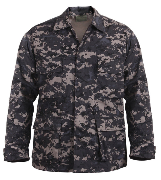 kids military style bdu shirt uniform top only subdued digital camo rothco 66425