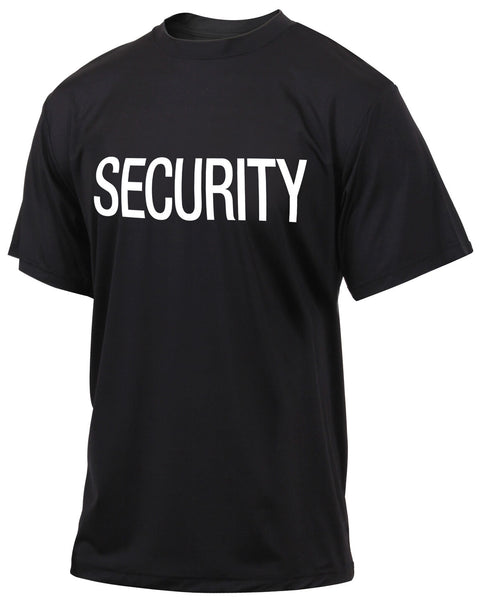 Security PT T-shirt Black Quick Dry Performance Uniform Shirt Rothco 66260