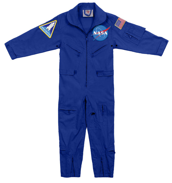 Kids NASA Flightsuit Flight Coverall With Patches Rothco 7209