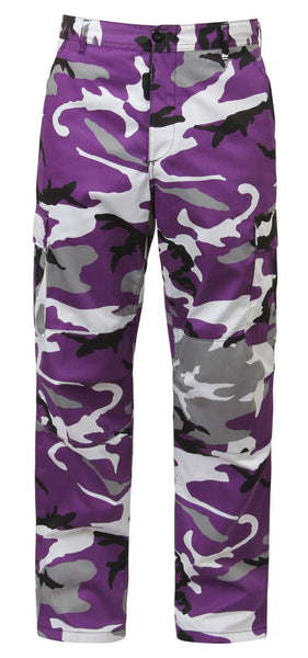 bdu camo pants military style cargo trousers ultra violet camouflage rothco 7925