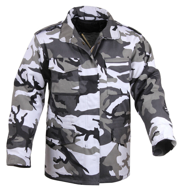 M-65 Field Jacket City Camo Coat With Liner Winter Jacket Military Style 8994