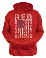 CCW Hoodie RED Remember Everyone Deployed Hooded Sweatshirt US Flag Rothco 4036