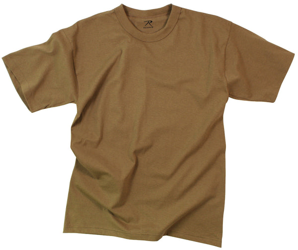 army acu ocp t-shirt 5 pack military shirts brown 100% cotton rothco 7848