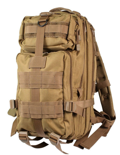 medium transport pack backpack tactical military style coyote brown rothco 2289