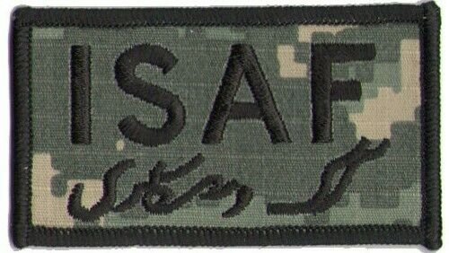 Military ISAF Patch ACU Digital Camo Afghanistan OEF Patch Enduring Freedom NATO