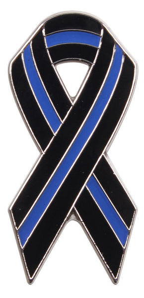 Ribbon Pin US Police Thin Blue Line Blue Lives Matter Rothco 1965