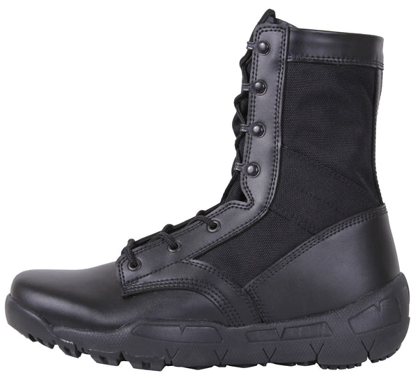 Black Military Boot Lightweight V-Max Combat Boots Rothco 5369