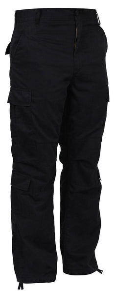 Military Vintage Style Black Paratrooper Pants Cargo Fatigues Rothco 2986
