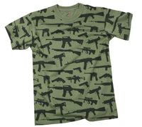 Guns And Rifles Gun Rifle Pistol T-shirt OD Weapon Tee Shirt Rothco 66360