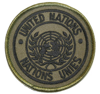 patch un united nations green black subdued