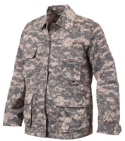 kids bdu shirt military style army acu digital camo shirt rothco 66210