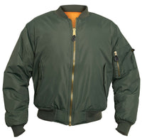 Tactical Sage Green MA-1 Flight Jacket Water Resistant Bomber Rothco 2860