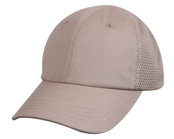 tactical khaki hat baseball cap ballcap mesh back rothco 99551