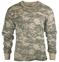 Long Sleeve T-shirt ACU Digital Army Camouflage Shirt Military Rothco 6385