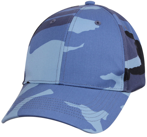 Low Profile Camo Baseball Cap Sky Blue Camouflage Ballcap Hat Rothco 8588