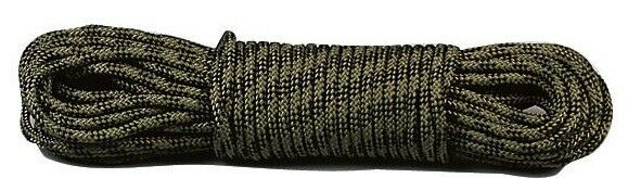 "utility rope camo general purpose 3/8"" 100 feet made in the usa rothco 313"