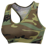 Woodland Camo Sports Bra Performance Work Out Bra Rothco 4922