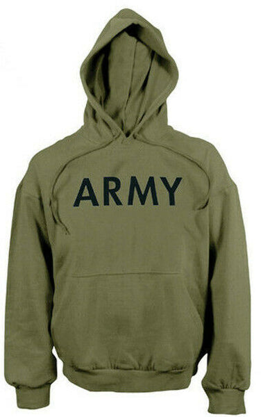 OD Army Hoodie Hooded Military Sweatshirt Pullover Rothco 9172