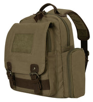 Vintage Style Sling Backpack Olive Drab Travel School Day Pack Bag Rothco 5968