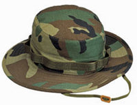 Woodland Camo Booniehat Military Wide Brim Bucket Boonie Jungle Hat Rothco 5800
