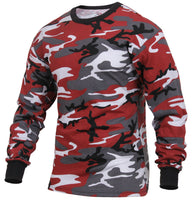 LS T-shirt Red Camo Long Sleeve Camouflage Cotton Poly Blend Rothco 3173