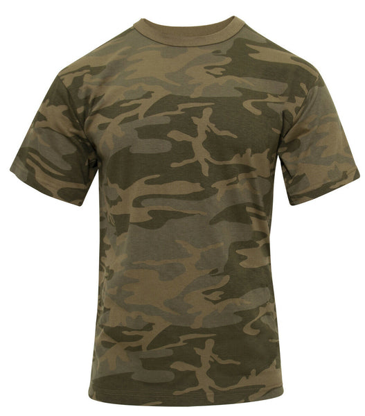 Military Camo T-shirt Coyote Camouflage Cotton Polyester Blend Rothco 10566