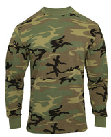 LS T-shirt Woodland Camo Vintage Look Long Sleeve Cotton Poly Blend Rothco 3733