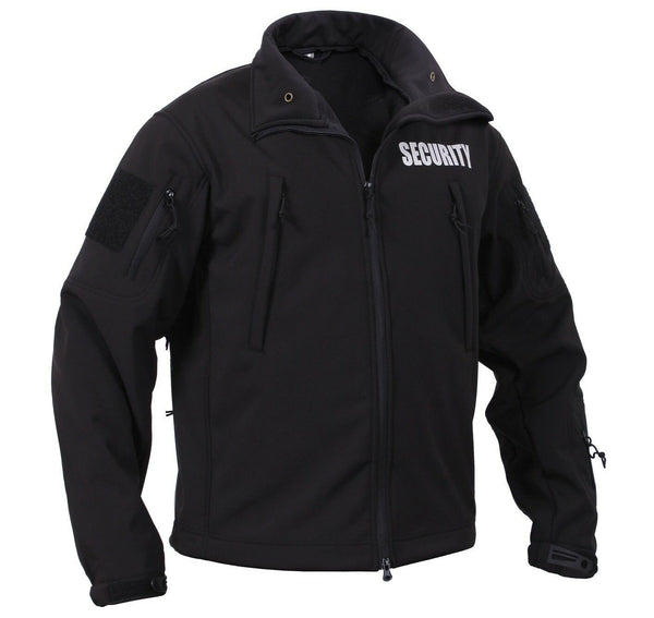 Security Uniform Jacket Soft Shell Black Waterproof Windproof Coat Rothco 97670