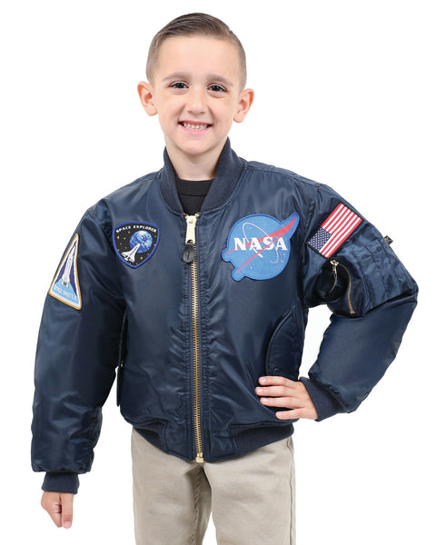 Kids NASA MA-1 Flight Jacket Coat Space Explorer With Patches Rothco 7063