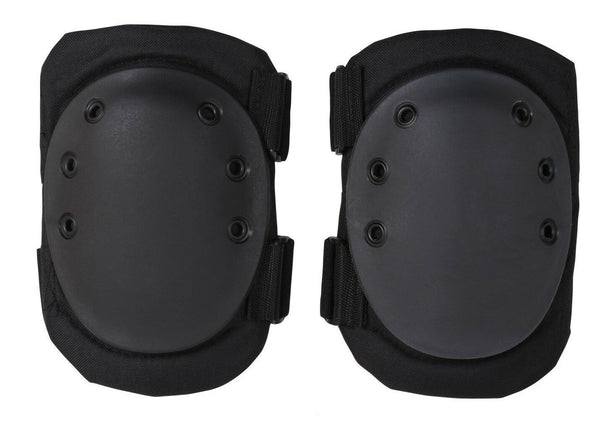 Military Style Protective Knee Pads Tactical Pad Black Rothco 11058